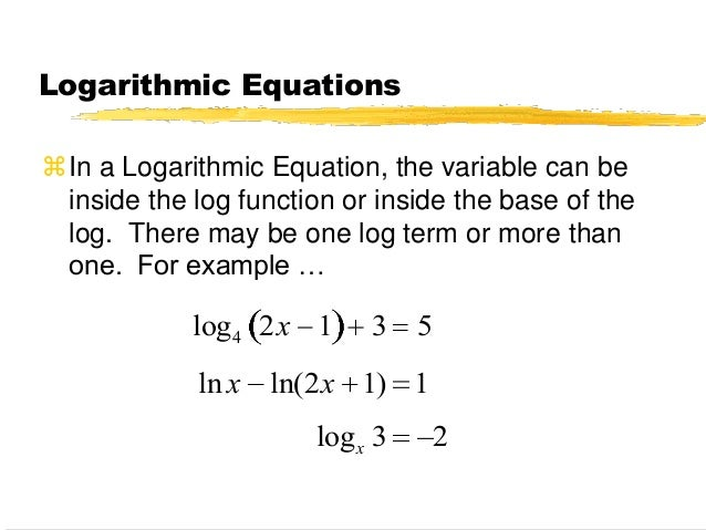 76 solving logarithmic equations – Solving Log Equations Worksheet