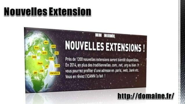Nouvelles Extension