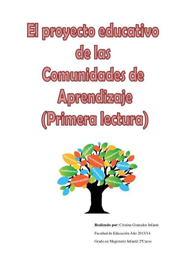 Realizado por: Cristina Granados Infante Facultad de Educación Año 2013/14 Grado en Magisterio Infantil 2ºCurso