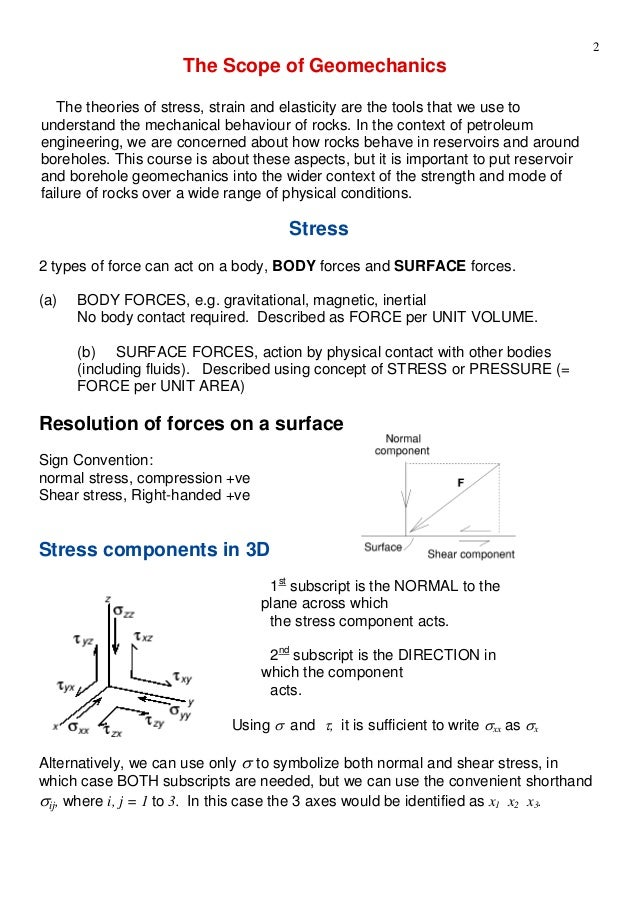 geomechanics course notes Direction cosines, the principal stress axes (courtesy geomechanics intl inc)   it is important to note that eq 1 cannot be used to calculate the  or sv)  corresponds to s1 or s3, depending of course on whether it is a.