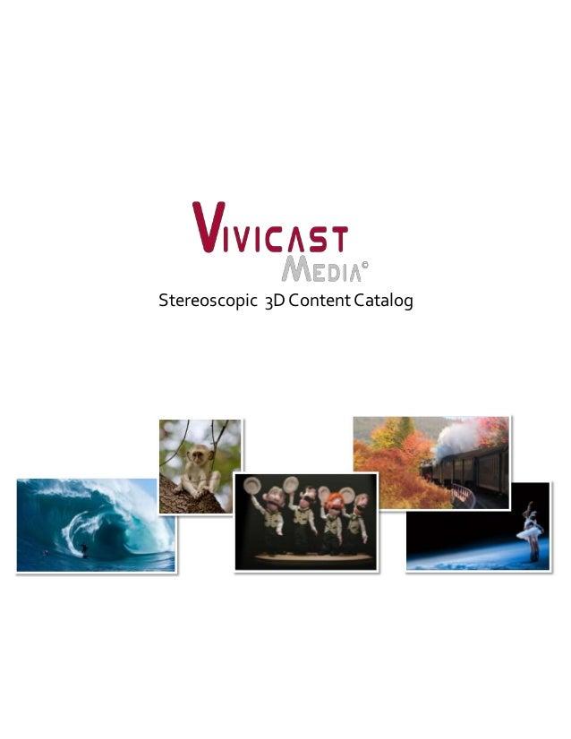 Stereoscopic 3D Content Catalog