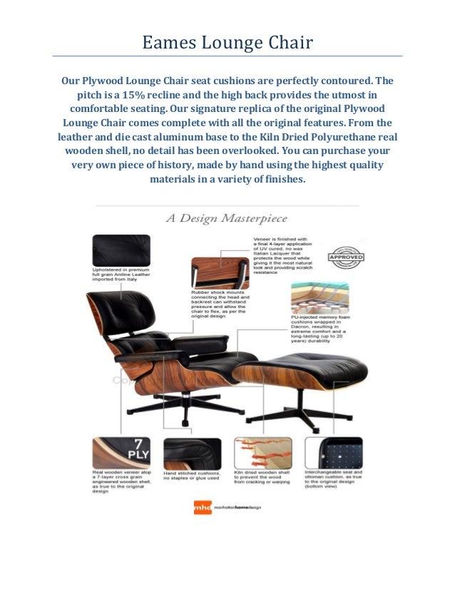 Eames Lounge Chair Manhattan Home Design 1800 917 0297
