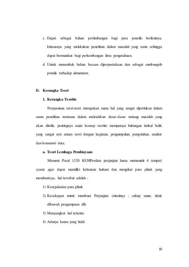 Contoh Surat Kuasa Fif Pengambilan Bpkb Simak Gambar Berikut