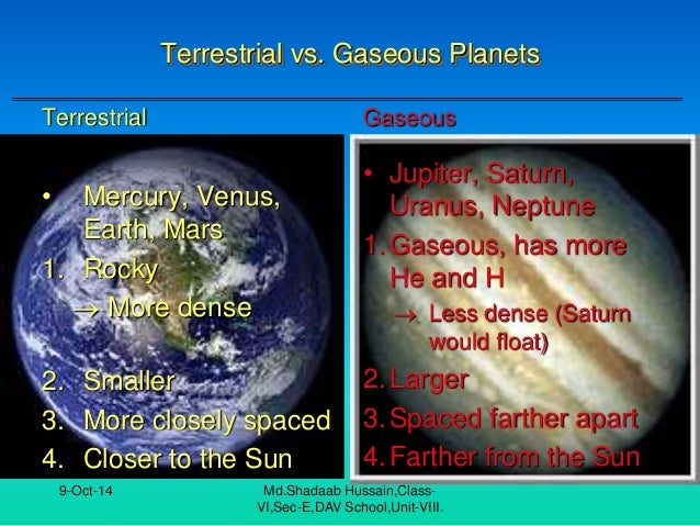 terrestrial planets vs. gas - photo #24
