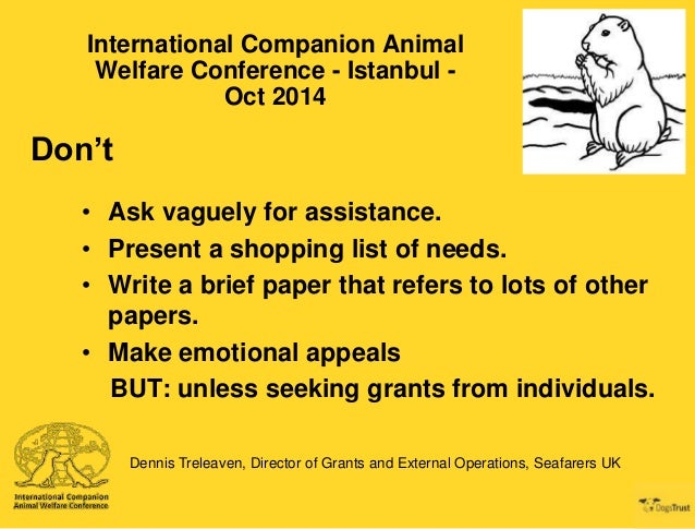 ICAWC 2014 - What Makes a Good Grant Application - Dennis