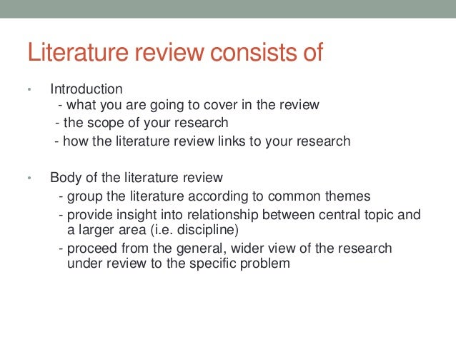 WRITING CHAPTER 2: THE LITERATURE REVIEW
