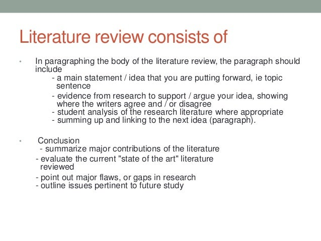 Sample Literature Review Text