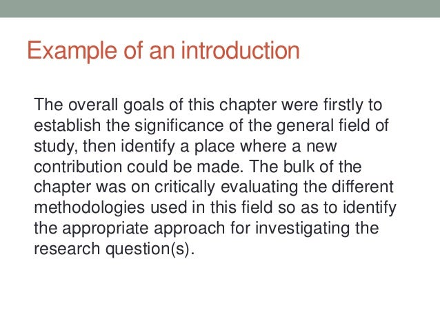 introduction to a literature review