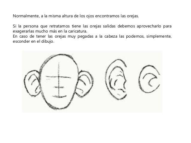 Normalmente, a la misma altura de los ojos encontramos las orejas.  Si la persona que retratamos tiene las orejas salidas ...