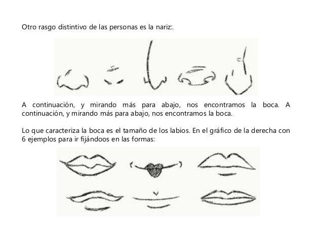 Otro rasgo distintivo de las personas es la nariz:.  A continuación, y mirando más para abajo, nos encontramos la boca. A ...