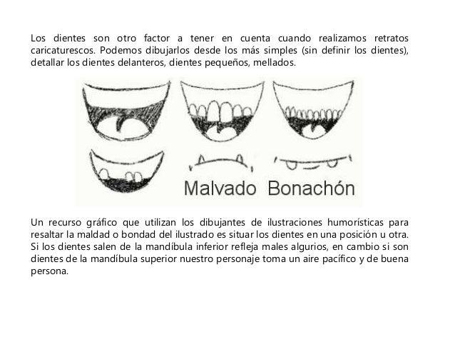 Los dientes son otro factor a tener en cuenta cuando realizamos retratos  caricaturescos. Podemos dibujarlos desde los más...