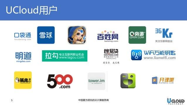 UCloud用户  5  中国最为领先的云计算服务商