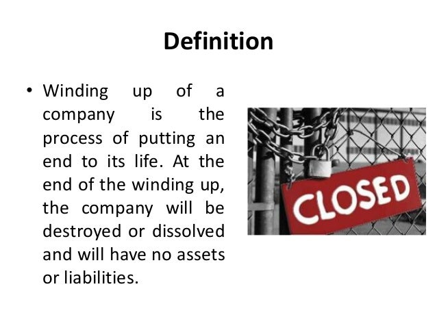 What is Winding up Process of a Company?