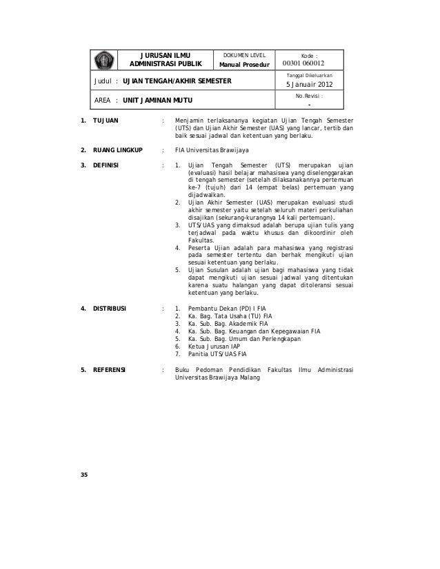 Manual Prosedur