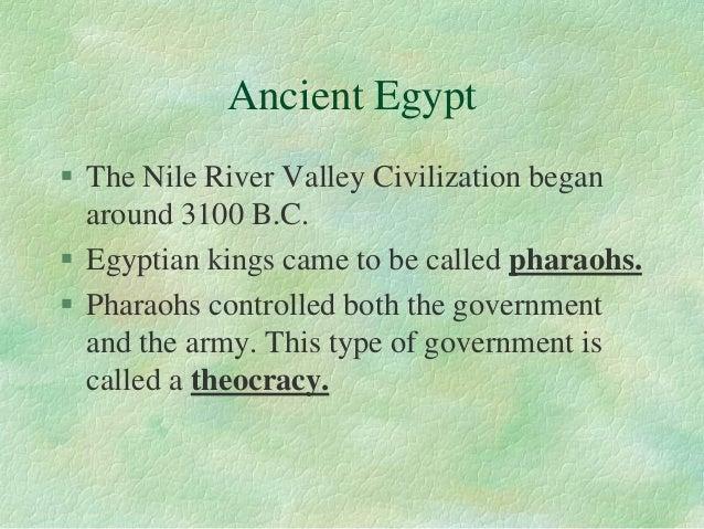 Notes: ancient river valley civilizations