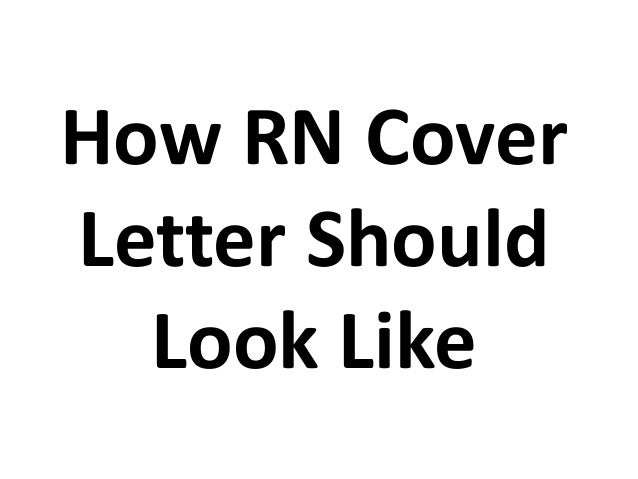 How rn cover letter should look like thecheapjerseys Image collections