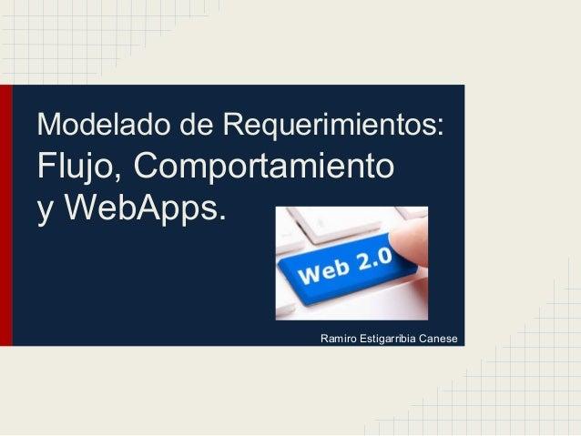 Modelado de Requerimientos: Flujo, Comportamiento y WebApps. Ramiro Estigarribia Canese