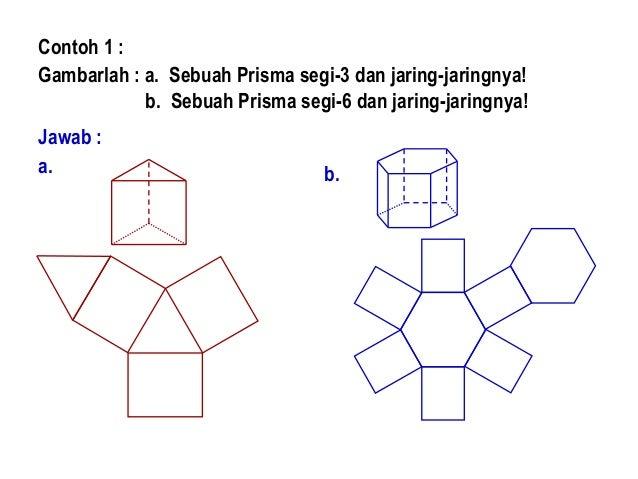 Buatlah 5 Contoh Jaring Jaring Dari Bangun Ruang Prisma ...