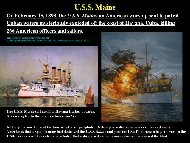uss maine sinking of essay Letter to the editorrecently the maine was sunk in uss maine, sinking of april 09, 2018, from.