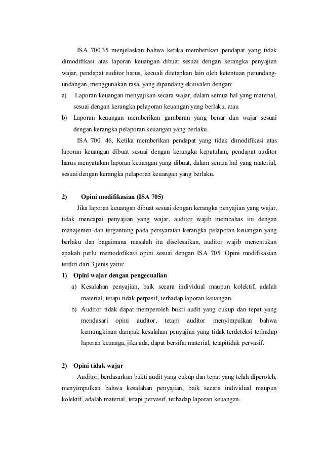 7 Audit Atas Laporan Keuangan Pendapat Auditor Atas Laporan Keuangan