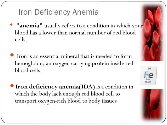 iron deficient anemia In patients with proven iron deficiency anemia, treatment with intravenous iron  seems to be the specific treatment however, the efficacy of high-dose  intravenous.