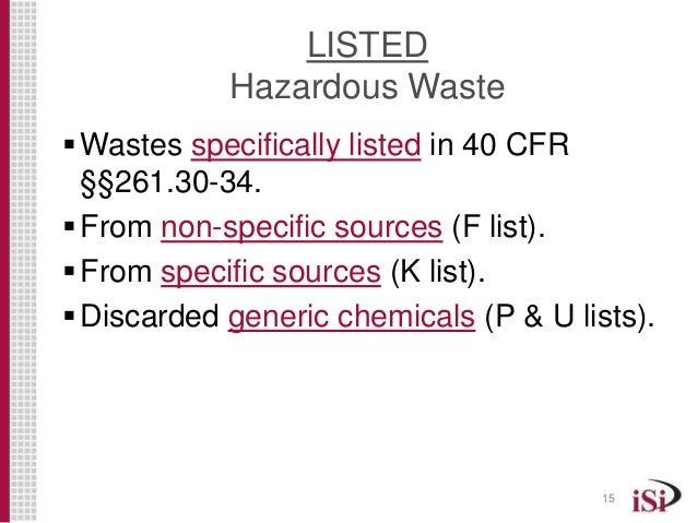 The Hazardous Solvent Waste Identification Process