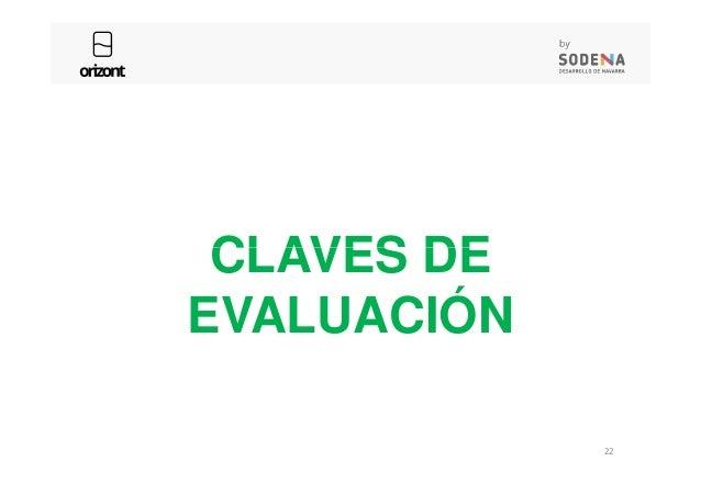 CLAVES DE 22 CLAVES DE EVALUACIÓN
