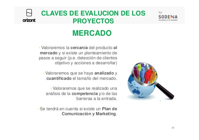 CLAVES DE EVALUCION DE LOS PROYECTOS Valoraremos la cercanía del producto al mercado y si existe un planteamiento de pasos...
