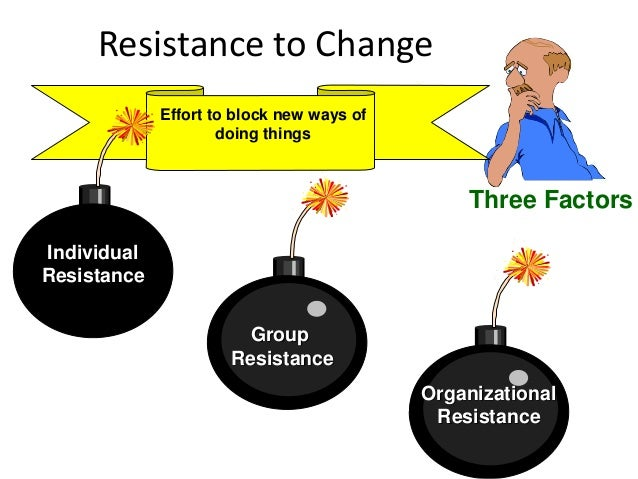 resistance to change 3 essay Resistance to change: the rest of the story jeffrey d ford the ohio state university laurie w ford critical path consultants angelo d'amelio the vanto group.
