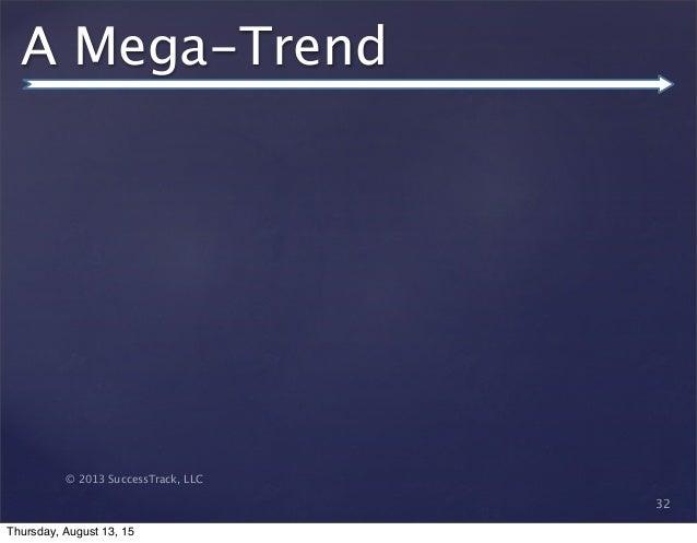 © 2013 SuccessTrack, LLC A Mega-Trend 32 Thursday, August 13, 15