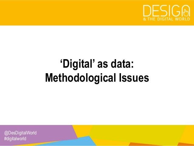 7. 'Digital' as data Slide 2
