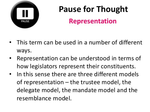 comparing the delegate model to the trustee model of representation Delegate model ap gov quizlet keyword after analyzing the system lists the list of delegate model of representation trustee model of representation.
