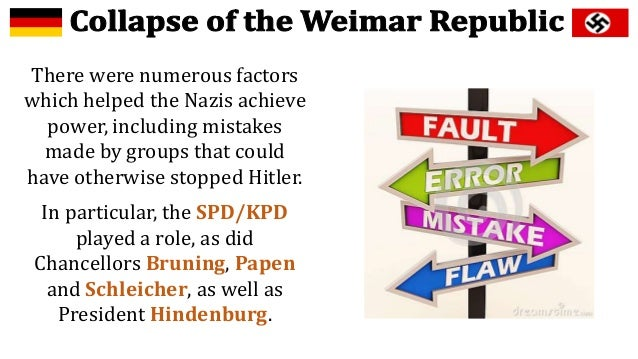 why did the weimer republic collapse