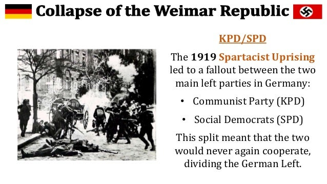 the weimar republic was most in Weimar germany and donald trump the weimar republic is often seen as merely a prelude to the third reich but that reads back into the past germany's later history the republic certainly suffered numerous crises and had a fragile character.