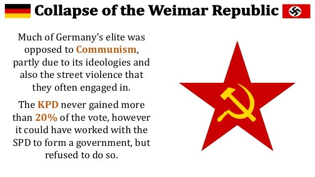 weimar government and its weaknesses essay The weimar republic was formed in six weeks, after kaiser wilhelm  we will  write a custom essay sample on any topic specifically for you for.