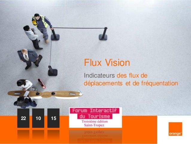 1 Flux Vision Indicateurs des flux de déplacements et de fréquentation 22 10 15
