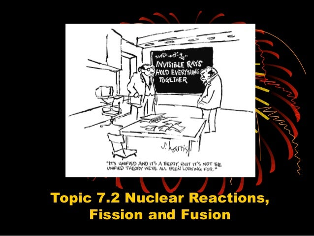 Topic 7.2 Nuclear Reactions, Fission and Fusion