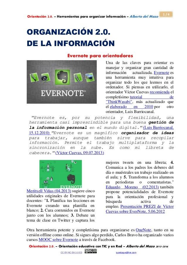 Orientación 2.0. – Herramientas para organizar información – Alberto del Mazo Orientación 2.0. – Orientación educativa con...