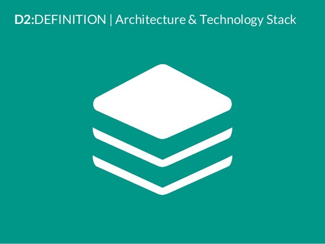 Delightful D2:DEFINITION | Architecture U0026 Technology Stack ...