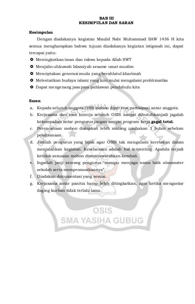 Laporan Kegiatan Maulid Nabi Dalam Bahasa Sunda Helowiny