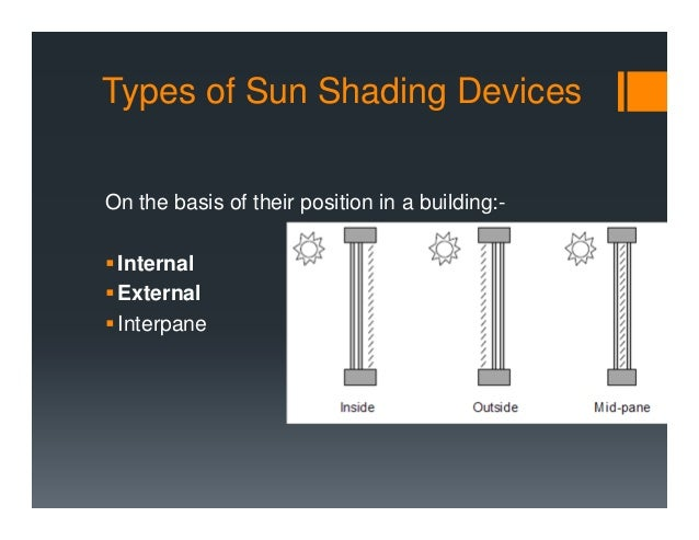 7. Shading devices
