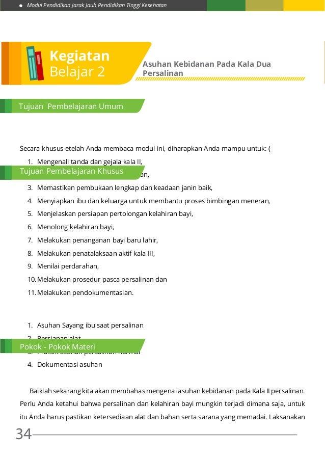 Modul Pendidikan Jarak Jauh Pendidikan Tinggi Kesehatan 34 Secara khusus etelah Anda membaca modul ini, diharapkan Anda ma...