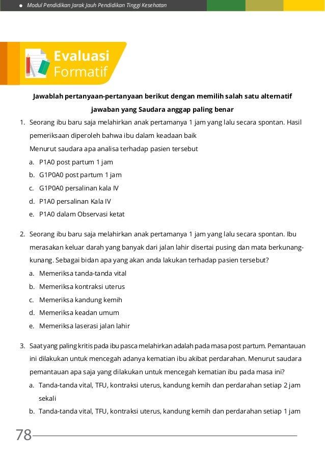 Modul 7 Praktik Kebid III