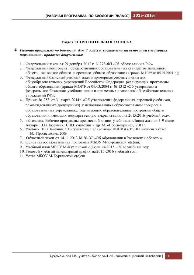 Ктп по биолгии 6 класс пасечник в.в