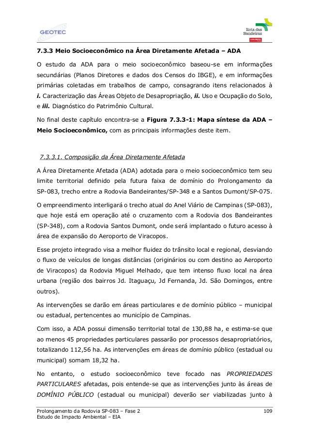 34d0f578914c9 Prolongamento da Rodovia SP-083 – Fase 2 109 Estudo de Impacto Ambiental –  EIA ...