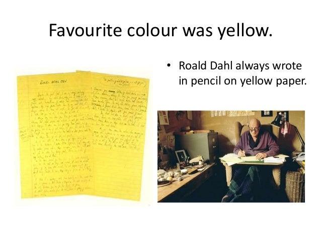 Roald dahl writing paper