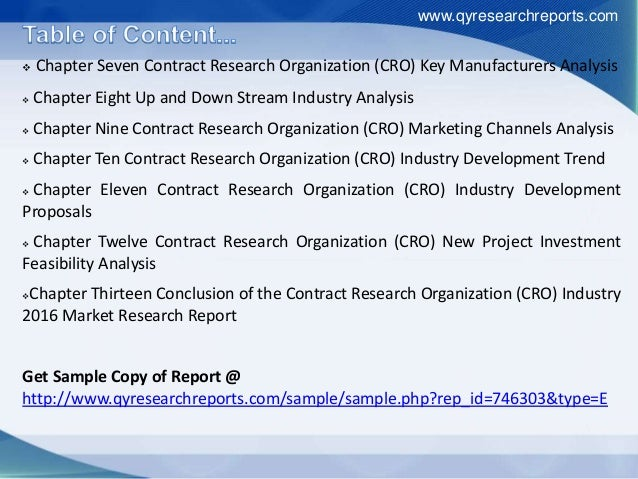 china contract research organization industry 2016 In 2015, the global contract cro market generated usd314 billion in  source:  frost & sullivan global cro report, 2016  biotechnology companies from the  us and china, including their views on the advantages and  contract  research organizations (cros): australia has an experienced and long.