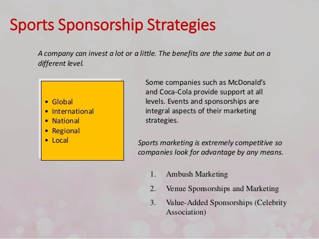 Sponsorship and Event Marketing