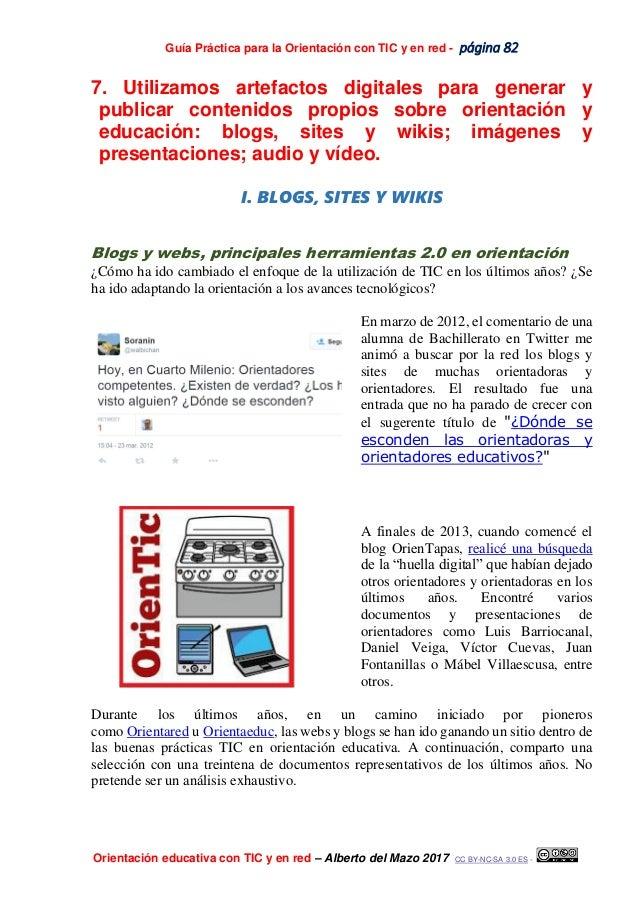 Guía Práctica para la Orientación con TIC y en red - página 82 Orientación educativa con TIC y en red – Alberto del Mazo 2...