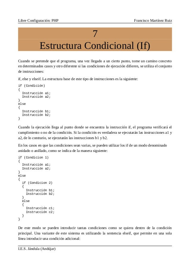 7 Estructura Condicional If